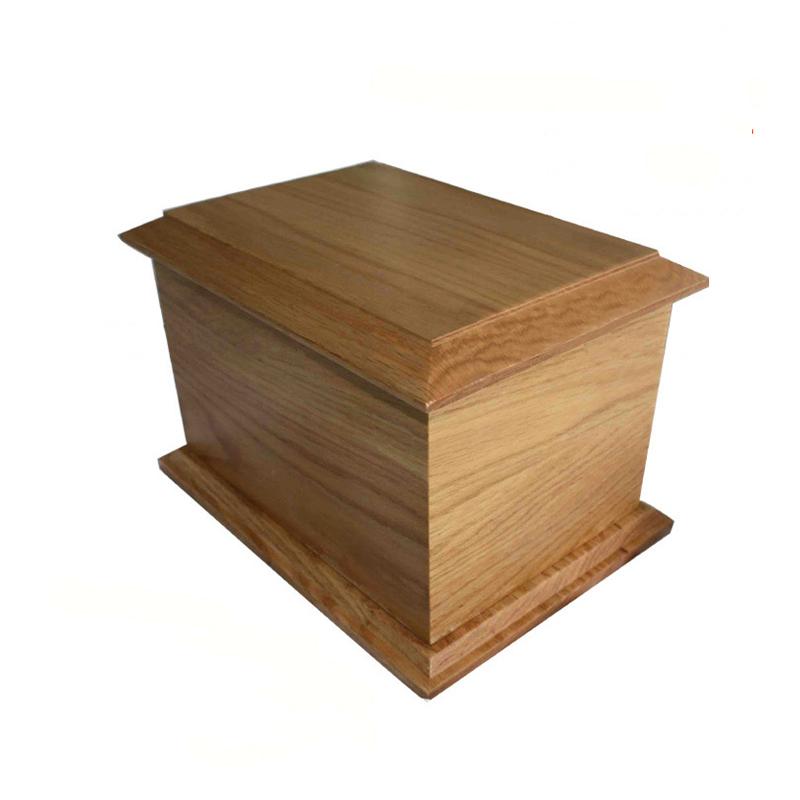 Modern Simple Style Pure Wood Coffin Box Funeral Urn TD-U09