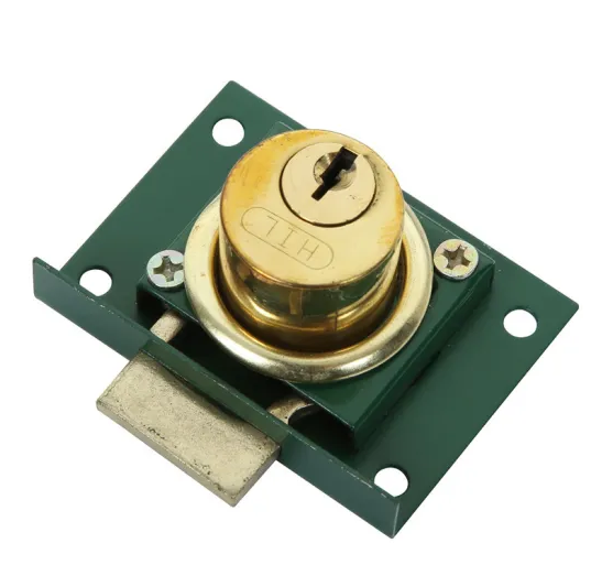 Drawer Lock with Light Green Plate