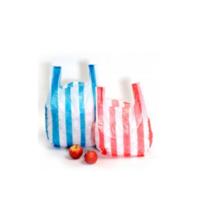 Color Stripe Plastic T Shirt Bags Cheap