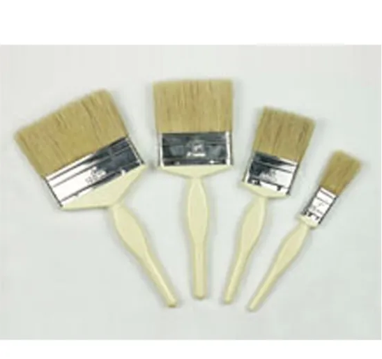 Quality Plastic Handle Professional Natural Flat Wall Bristle Paint Brush