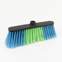 Floor Clean Plastic Broom with Rubber
