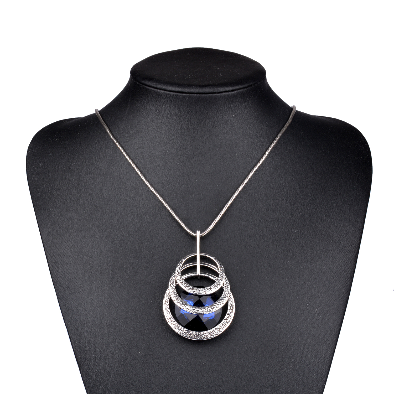 Long Pendants Fashion Jewelry Women Round Statement Pendants Necklaces