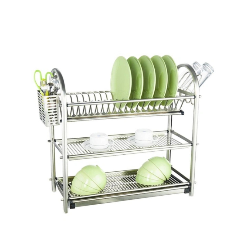 Stainless Steel 3 Tier Kitchen Dish Rack
