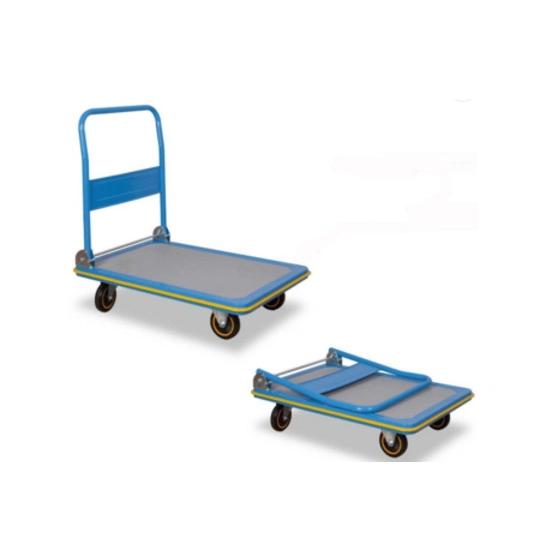 Heavybao Folding Plastic Platform Utility Service Cart Trolley on Wheels