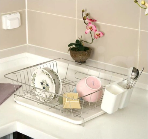 Factory Directory Export Metal Wire Kitchen Organizer Hanging Dish Rack