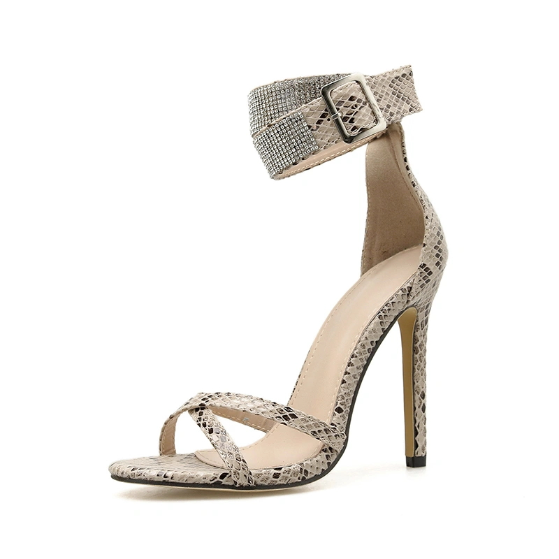Serpentine Diamante Shoes Sandals for Women
