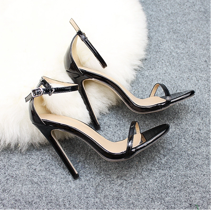 New Arrival Bandage Pure Color Sexy Women High Heel Shoes