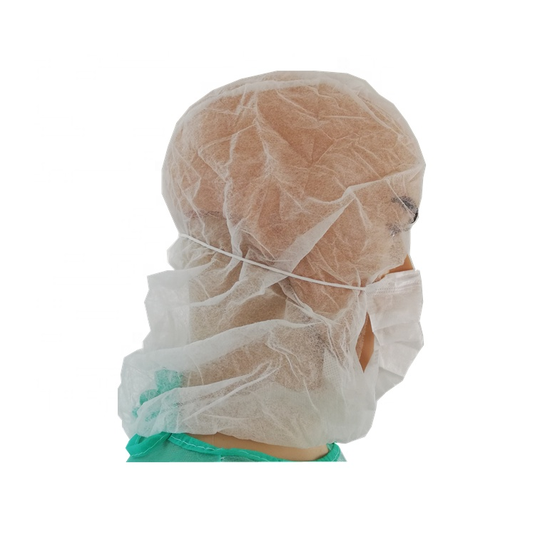 Disposable PP Non Woven Bouffant Pirate Caphat with Mask