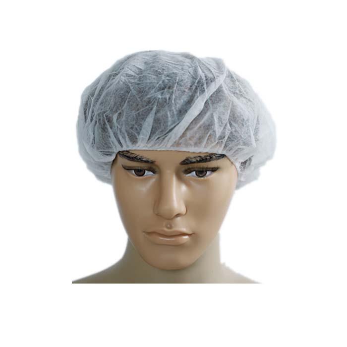 Disposable Non-Woven Surgical Bouffant Cap Hair Net Clip Cap with Single or Double Elastic