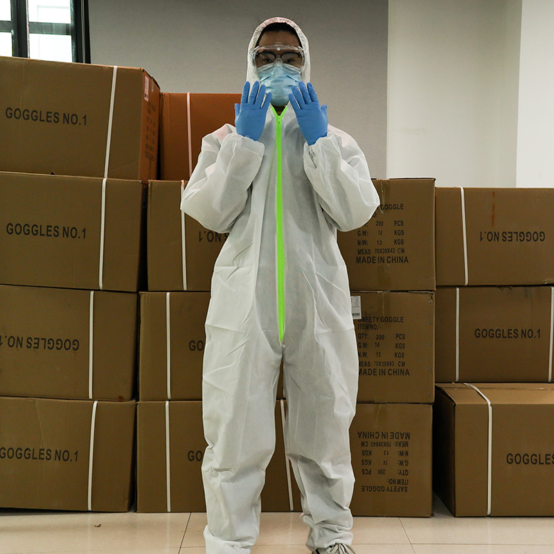 Isolation Gown Safe Waterproof Disposable Protective Suit Prevent Protective Clothing Dust-proof Coveralls