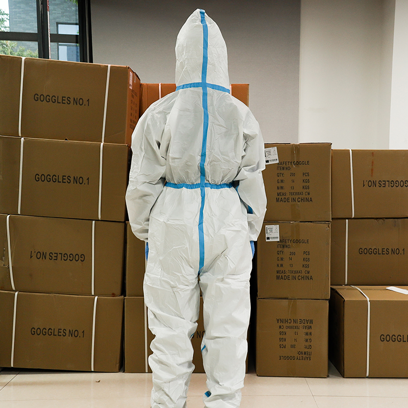 Professional Isolation Gown Hooded Protective Clothing Protective Suit Dust-proof Clothing Health Protection