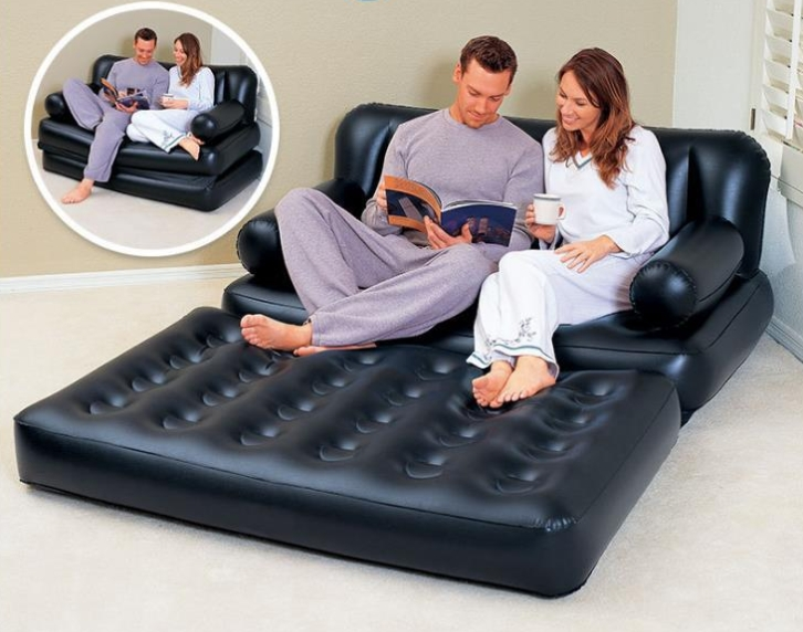Double Inflatable Sofa Bed Family Outdoor Couch Web Celebrity