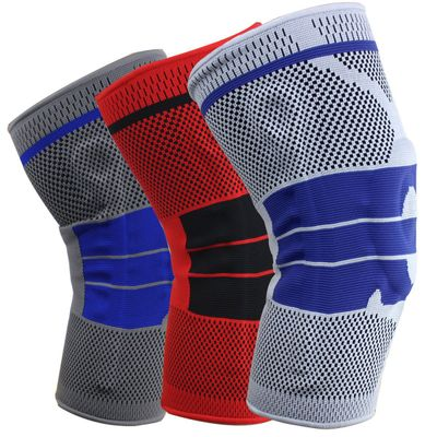 Ball professional sports kneecap three-dimensional technology knitting cycling fitness patella silicone protector wholesale