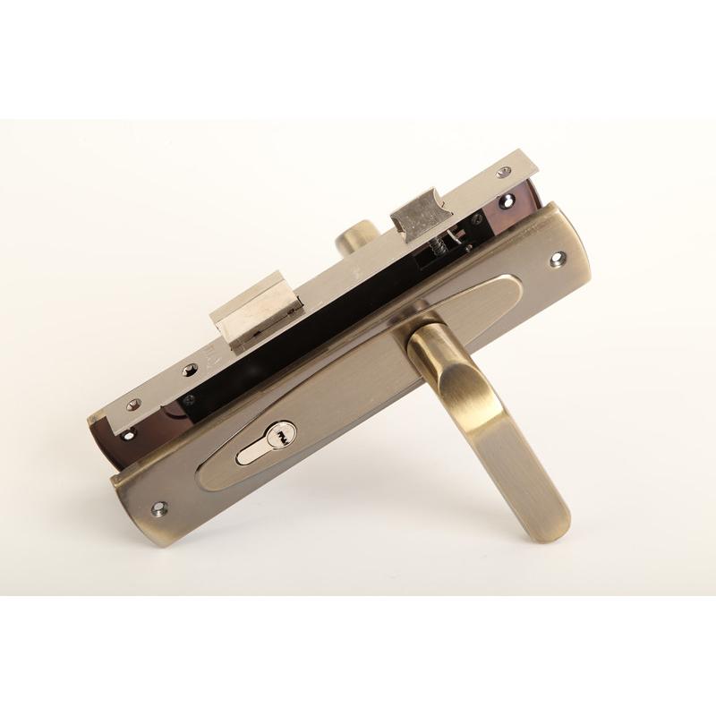 China factory hot sale door handle security door lock for entrance door (No.9074-30)