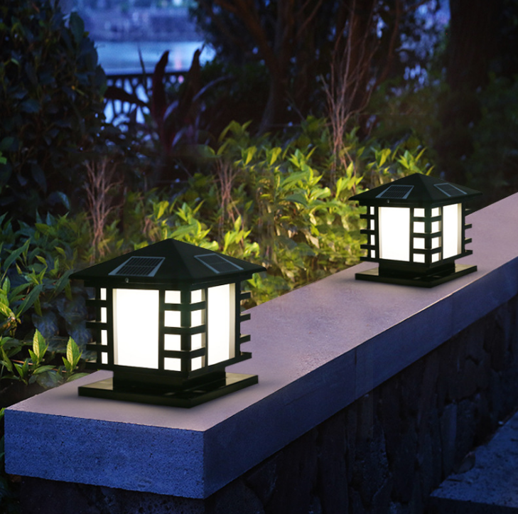 10W 8W 3.2W 6V Outdoor Waterproof Solar Pillar Lights