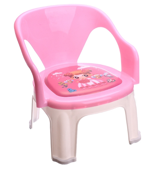 Plastic Children's Meal Chair Baby Called Back Chair Eating Chair Small Bench Thickening Wholesale