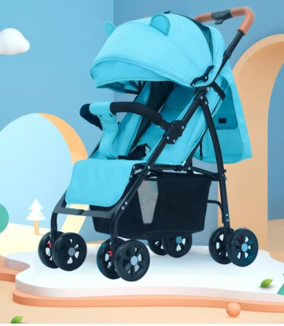 Twin Stroller Can Be Split Two-Way Double Portable Can Sit or Lie Triplet Car with One Button