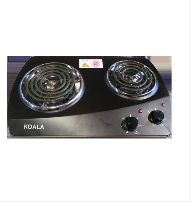 2250W Two Burners Csrew Type Black Electric Stove Hyr2250A