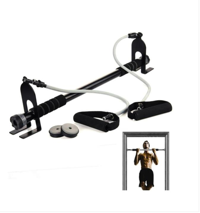72-98CM Adjustable Door Horizontal Bar Chin Pull Up Bar With Pull Rope Home Gym Workout Fitness Equipment