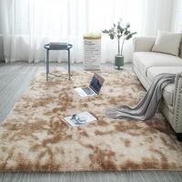 Nordic Ins Wind Tie-Dye Gradient Living Room Coffee Table Mat Bedside Long Hair Full Bedroom Custom Plush Carpet