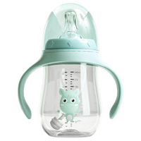 Manufacturers Wholesale Baby Wide-Caliber Feeding Bottle, Children′s Water Cup, Straw Cup, Dual-Purpose Feeding Bottle, Plastic Anti-Fall and Anti-Choke Water C