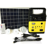 Wholesale portable power solar generator with Bluetooth MP3 and radio and light