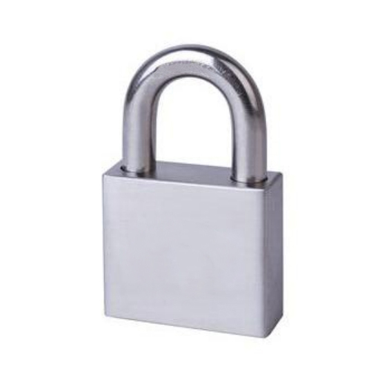 stainless steel padlock with 2 brass keys ART NO. SCP