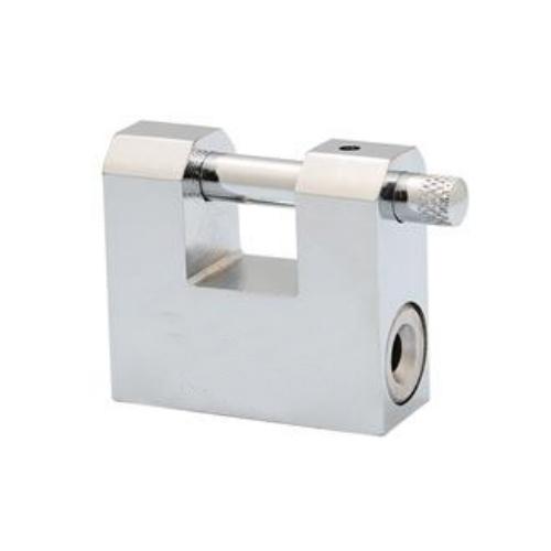 chrome plated rectangular iron vane padlock VRP