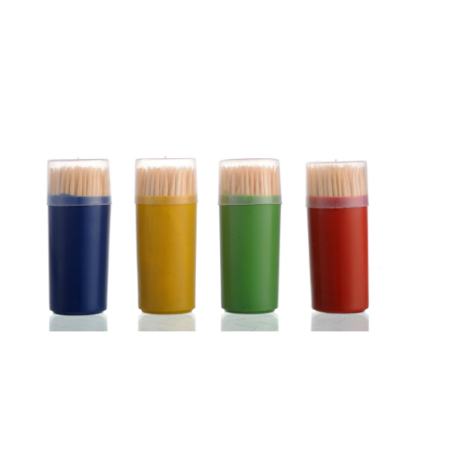 Wholesale plastic toothpick containers,wooden decorative toothpicks TP-007