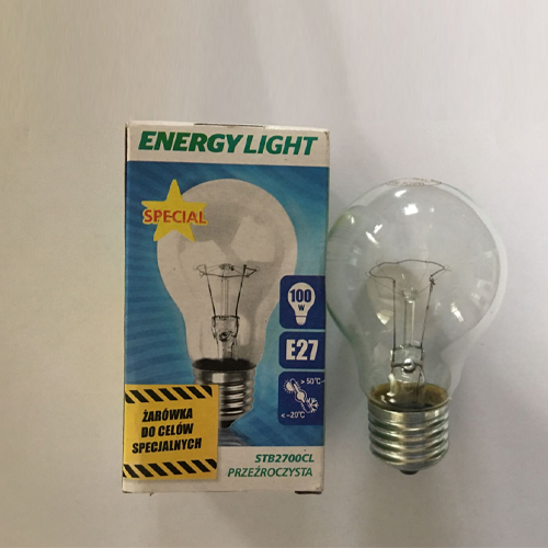 E27 incandescent clear bulb 220v bulb incandescent 60w 75w 100w incandescent bulb JM-003