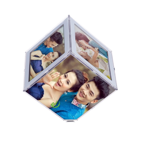 Stylish Photo Cube,Clear Acrylic Plexiglass Photo Cube YXN-002
