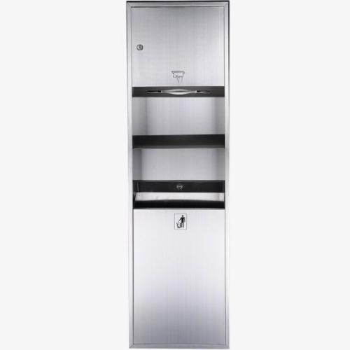 Wall Mounted Stainless Steel Paper Towel Dispenser & Waste Bin     WS-728B