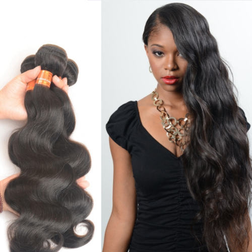 Factory Supply Color 1B# Body Wave Raw Indian Temple Hair Directly From India JFY-018