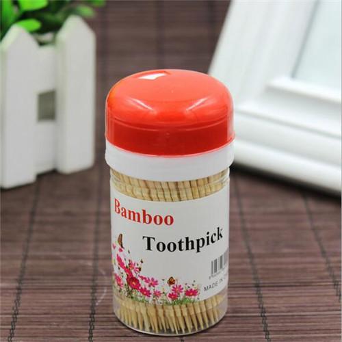 Plastic Barrel Disposable Bamboo Toothpicks WJF-010