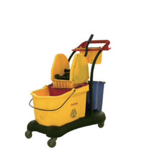 81L commercial plastic mop wringer bucket   0320100810001