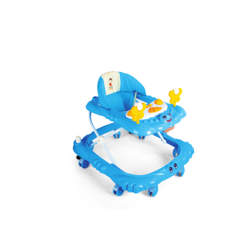 Baby products factory 8 big wheels height adjustable music walker with brakes 802