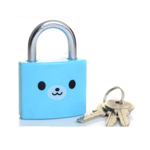 Factory Price Cheap And Cute Plastic Covered Iron Padlock SDE531