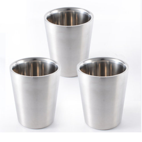 high quality double wall circular stainless steel metal drinking cups with good price JB3