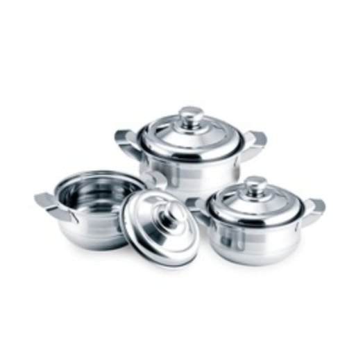 new product double handle titanium durable stainless steel hot pot from China factory JQL-804