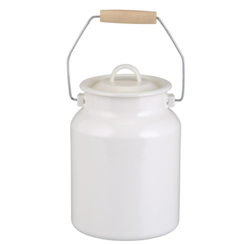 Emaye jug pitcher Enamel milk can With Lids  751D