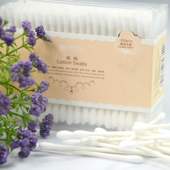 Beauty Use Plastic Sticks/ Cotton Swabs/cosmetic cotton buds JW-007