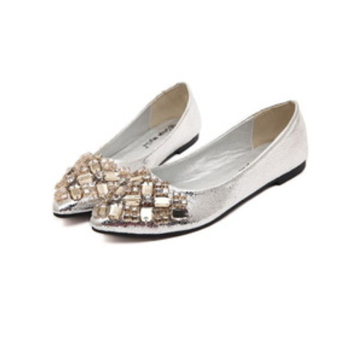 New fashion crystal flat shoes sexy pointed toe flats sandals PM3081