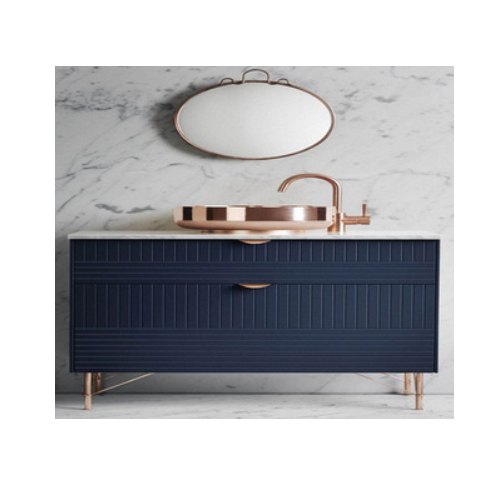 home bathroom vanity funiture full mirror flat design   SJ46