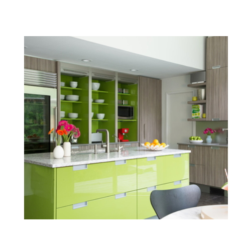 Morden modular kitchen cabinet with green color  SJ114
