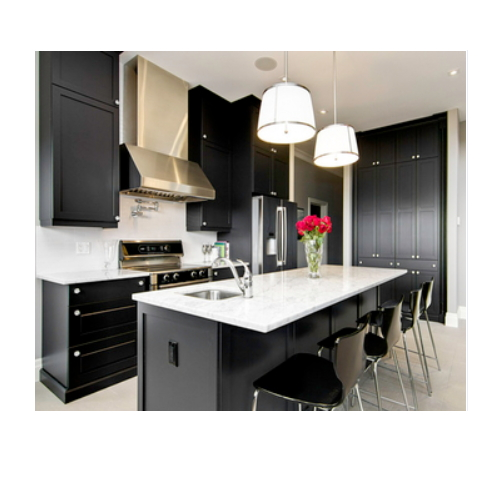 modern style custom made stainless steel kitchen cabinets  SJ137