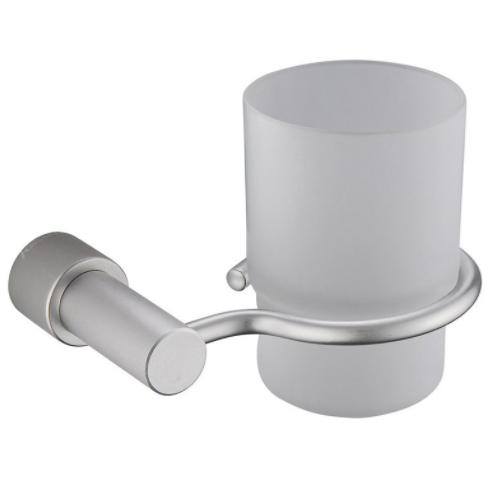 Aluminum bathroom single glass toothbrush holder KD-6109