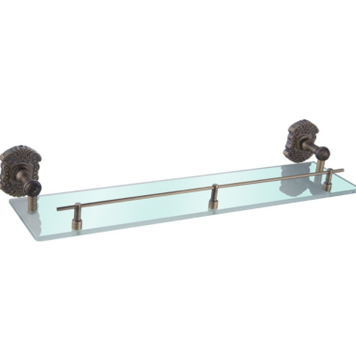 wall mounted antique bronze brass single tier bathroom shampoo storage corner rack KD-9613