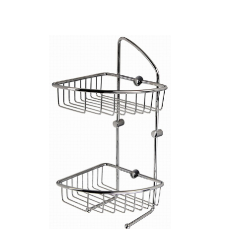 wall mounted wrought iron triangle  wire basket KD-5122