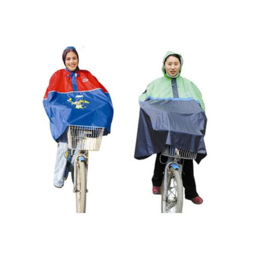 0.18mm polyester coated pvc bike rain jacket     R-9057