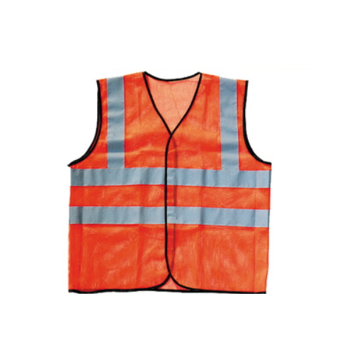 polyester orange reflective vest for running or cycling    R-9109